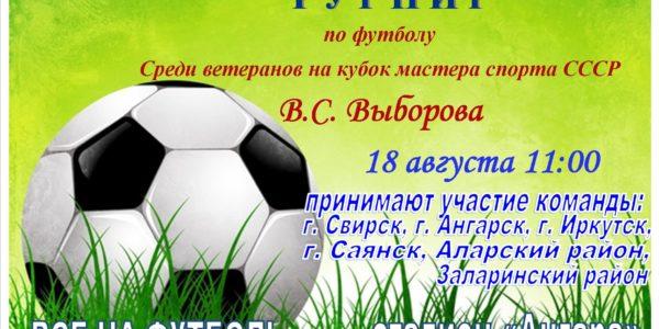 18 августа Турнир по футболу среди любительских команд