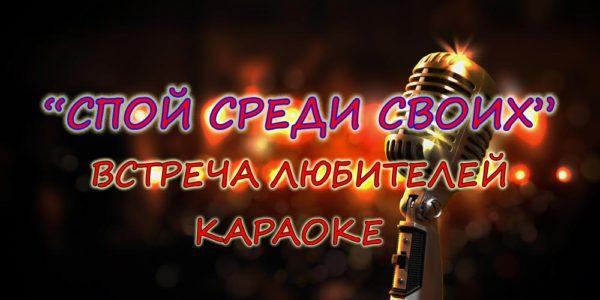 17 ноября Встреча любителей караоке «Спой среди своих»
